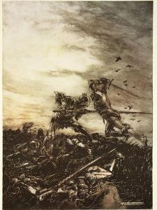 How Mordred Was Slain by Arthur, and How by Him Arthur Was Hurt to the Death by Arthur Rackham