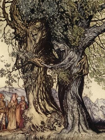 I Am Old Philemon! Murmured the Oak, Illustration from 'A Wonder Book for Girls and Boys'