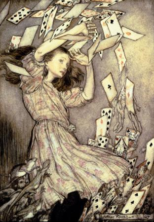 Illustration from 'Alice's Adventures in Wonderland' by Lewis Carroll by Arthur Rackham