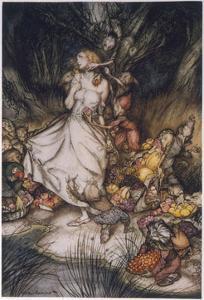 Illustration to Goblin Market by Arthur Rackham