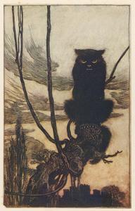 Jorinda as Owl by Arthur Rackham