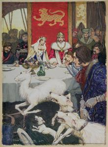 King Arthur's Wedding Feast, 1905 (W/C) by Arthur Rackham