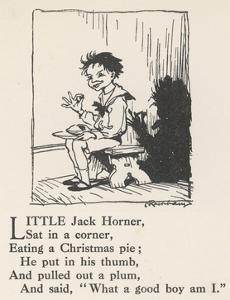 Little Jack Horner by Arthur Rackham