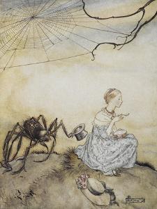 Little Miss Muffet by Arthur Rackham