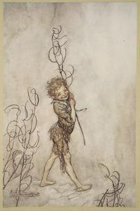 Lord, What Fools These Mortals Be!, Illustration from 'Midsummer Nights Dream' by Arthur Rackham