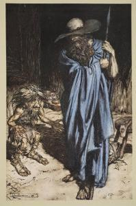 Mime and the Wanderer, from 'Siegfried and The Twilight of the Gods', 1910 by Arthur Rackham