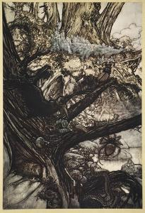 Never Harm, Nor Spell Nor Charm, Come Our Lovely Lady Nigh by Arthur Rackham