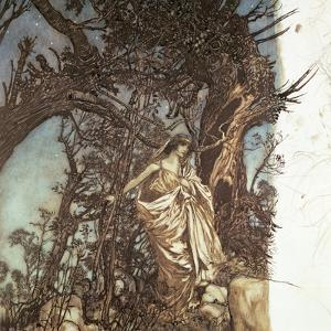 Never So Weary, Never So Woeful, Illustration to 'A Midsummer Night's Dream', 1908 by Arthur Rackham