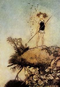 One Aloof Stand Sentinel - A Midsummer Night's Dream by Arthur Rackham