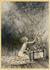 Pandora and Her Box by Arthur Rackham