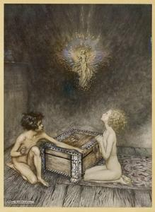 Pandora and Hope by Arthur Rackham