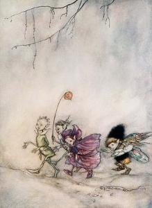 Peaseblossom, Cobweb, Mote & Mustardseed by Arthur Rackham