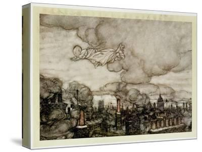 Peter Pan Flying over London, Illustration from 'Peter Pan' by J.M. Barrie