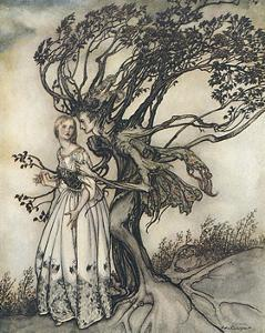 Prince into Tree by Arthur Rackham