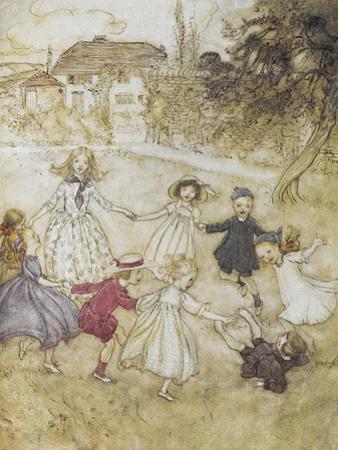 Ring-a-ring-a-roses by Arthur Rackham