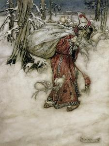 Santa Claus, Illustration from 'Arthur Rackham's Book of Pictures', 1907, Published 1913 by Arthur Rackham