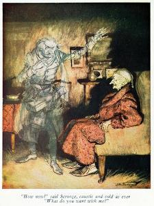 Scrooge and The Ghost of Marley, from Dickens' 'A Christmas Carol' by Arthur Rackham