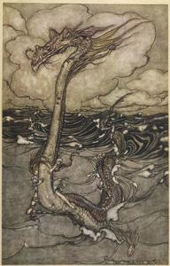 Sea Dragon by Arthur Rackham