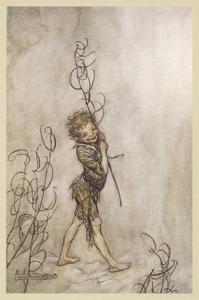 Shakespeare: Puck, 1908 by Arthur Rackham