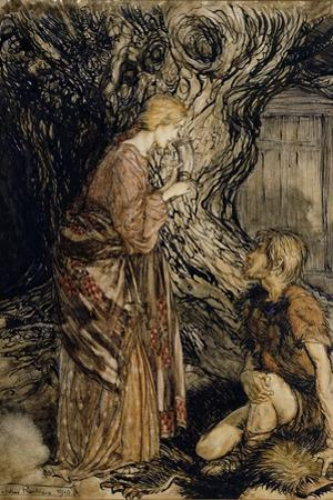 Siegmund and Sieglinde, Illustration from 'Rhinegold and the Valkyrie' by Richard Wagner