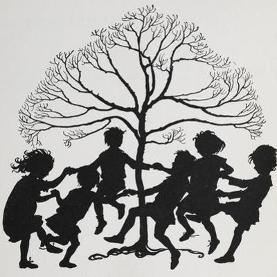 Silhouette Of Children Dancing Around a Tree by Arthur Rackham