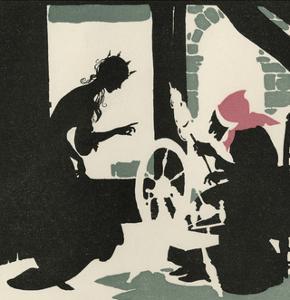 Sleeping Beauty Pricks Her Finger by Arthur Rackham
