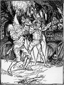 'The Cask of Amontillado' by Edgar Allan Poe by Arthur Rackham