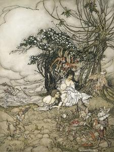 The Changeling, 1905 by Arthur Rackham