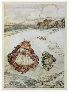 The Crab and His Mother, Illustration from 'Aesop's Fables', Published by Heinemann, 1912 by Arthur Rackham