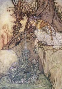 The Enchanted Goblet, c.1908 by Arthur Rackham