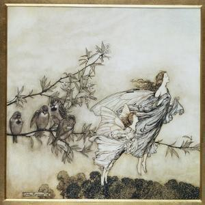 The Fairies Have their Tiff with the Birds, 1906 Illustration for 'Peter Pan in Kensington… by Arthur Rackham