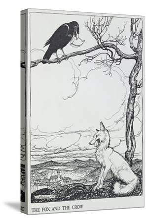 The Fox and the Crow, Illustration from 'Aesop's Fables', Published by Heinemann, 1912