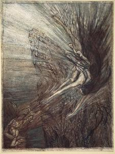 The Frolic of the Rhinemaidens, illustration from 'The Rhinegold and the Valkyrie', 1910 by Arthur Rackham