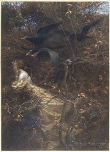 The Haunted Wood C1903 by Arthur Rackham