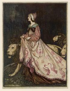 The Lady and the Lion by Arthur Rackham