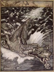 The Leviathan, 1908 by Arthur Rackham