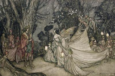 The Meeting of Oberon and Titania, 1905 by Arthur Rackham