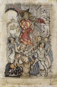 The Pied Piper and the Children by Arthur		 Rackham