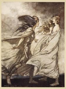 The ring upon thy hand', illustration from 'Siegfried and the Twilight of Gods', 1924 by Arthur Rackham