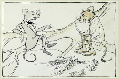 The Town Mouse and the Country Mouse, Illustration from 'Aesop's Fables', Published 1912 by Arthur Rackham