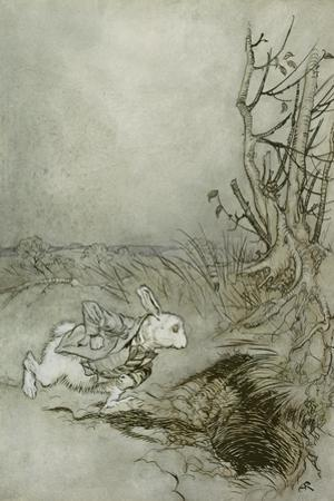 The White Rabbit from 'Alice's Adventures in Wonderland', 1907 (Pen, Ink and W/C on Paper)