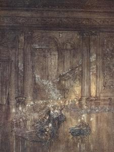 Through the House Give Glimmering Light, by the Dead and Drowsy Fire by Arthur Rackham