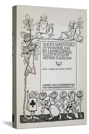 Title Page With a Rose Bush, the White Rabbit and Men Dressed As Cards