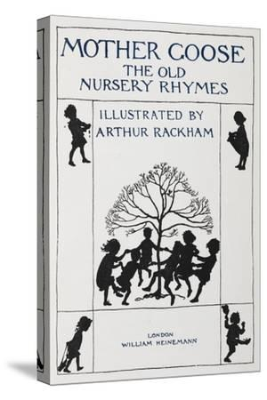 Title Page With Silhouette Of Children Dancing Round a Tree
