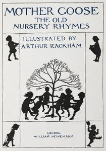 Title Page With Silhouette Of Children Dancing Round a Tree by Arthur Rackham