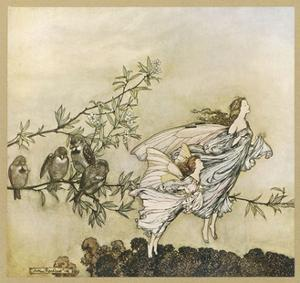 Two Flying by Arthur Rackham