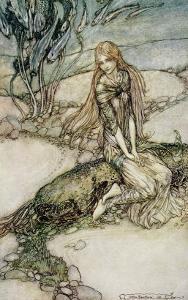 Undine, Illustration from the book by Baron Friedrich de la Motte Fouque by Arthur Rackham