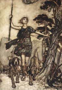 We Will, Fair Queen, Up to the Mountain's Top, and Mark the Musical Confusion of Hounds by Arthur Rackham