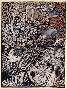 Wild and Shy and Monstrous Creatures Ranged in Her Plains and Forests' by Arthur Rackham