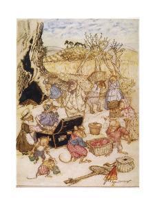 Wind in Willows, Mice by Arthur Rackham